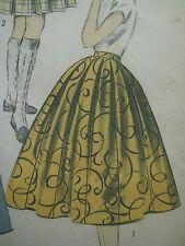 Vintage Advance 6989 ALL AROUND BOX PLEATED SKIRT Sewing Pattern Women Waist 24