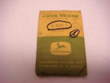 "Vintage Empty John Deere Parts Bag 4 Legged Deer, 2.5"" x 3.5"" Sign  JDM051"