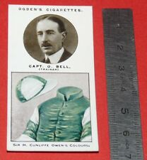 JOCKEY 1926 OGDEN'S CIGARETTES CARD TRAINERS OWNERS' COLOURS 3 CAPT. O. BELL