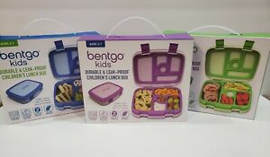 Bentgo Kids Leak-Proof Lunch Box Ages 3-7 - Purple, Blue and Green you choose
