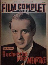 """FILM COMPLET 1949 N 140 """" RECHERCHE POUR MEURTRE """" avec ERIC PORTMAN"""