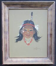 "Gerda Christoffersen (1917-2012) Original Oil on Canvas 15"" x 19""  Listed Artist"