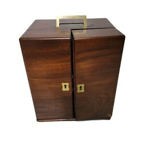 Antique Victorian Mahogany Apothecary Cabinet Medicine Chest Doctors