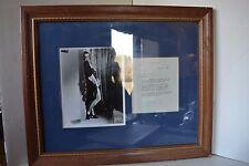 Vintage Original Black White Photo Framed Joan Crawford signed Thank You letter