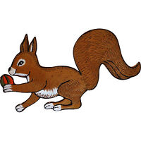 Embroidered Squirrel Iron On Patch Sew On Badge Cloth Animal Embroidery Applique