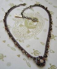 Konplott cadena/Collier las vegas beige Crystal/Antique bronce