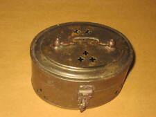 VINTAGE DECORATIVE PIERCED  BRASS CRICKET CAGE TRINKET  BOX