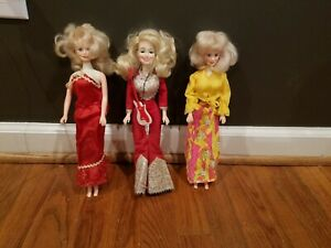 Lot of 3 Vintage Dolly Parton Dolls