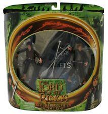 Herr der Ringe Sam, Frodo mit Boot FOTR Collectorsbox Toybiz 15 cm Figur MIP