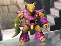 Battle Beasts Figure w Rub Sign Complete w Weapon & Rub Armored Armadillo #30