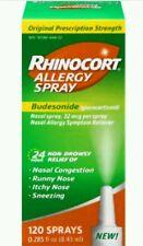 2x Rhinocort Allergy Nasal Spray 120 Sprays Budesonide Exp 2/18+