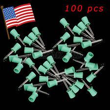 100 pcs Dental New Latch type Rubber Polishing Polisher Prophy Cups Plastic