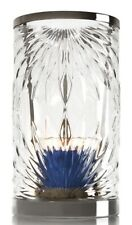 NEW BATH & BODY WORKS FLORAL ETCHED GLASS HURRICANE LARGE CANDLE HOLDER LUMINARY