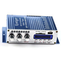 Power 2CH 200W Mini HiFi Audio Stereo AMP Amplifier For ipod Car Home MP3 FM