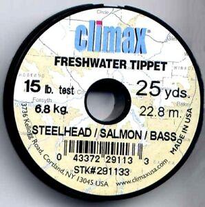 Climax 15 Lb Test Salmon / Steelhead /Bass Monofilament Fishing Tippet Material