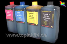 4 x 1 litres nachfüllset Dye encre pour HP Designjet c1806a c1807a c1808a c1809a L