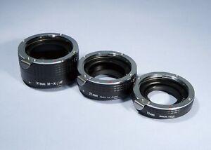 Jessops M-Xi/AF Extension Tube Set 13mm 21mm 31mm * Sony Alpha A / Minolta AF