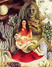 Loves Embrace of the Universe Earth A1+ by Frida Kahlo Quality Canvas Print