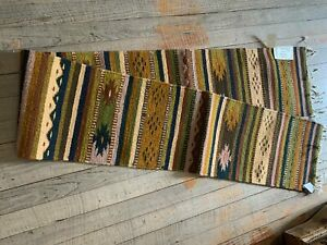 """Zapotec Handwoven Wool Table Runner; Approx 10""""W x 80""""L"""