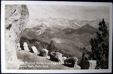 Sequoia National Park CA ~1930's Great Western Divide from Eagle View Point~RPPC