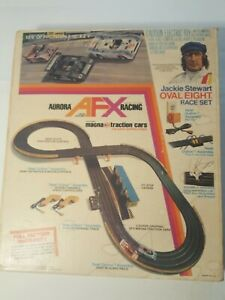 76 Vintage Aurora AFX Racing JS Magna Traction #2071 Oval 8 in Box Complete Used