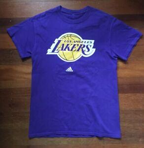 LA Lakers NBA Adidas purple tshirt Small size basketball retro Vintage