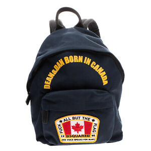 RRP €295 DSQUARED2 Backpack Embroidered Patch Padded Straps Zip Closure