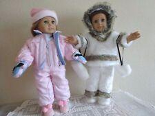 "New-Doll Eskimo & Ski Sets [2] Lot #178 fit 18"" Dolls such as American Girl Doll"