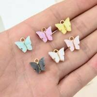 10x Acrylic Butterfly Charms Pendant for Jewelry Making Necklace Earring Crafts^