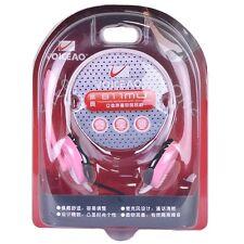 Voiceao 811MU Behind-the-Head Stereo Headphones w/Boom Mic (Pink) Retail Box