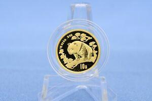 China 10 Yuan 1997 ohne Serifen Panda 1/10 oz   *  3,11 Gramm  999 Gold * BU