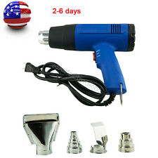 1500W 110V Heat Gun Hot Air Gun Dual-Temperature + 4 Nozzles Power T