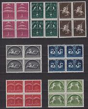 NVPH 405-411 blokjes Germaanse symbolen 1943-1944 postfris (MNH)