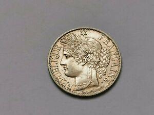 1 franc Cérès argent 1872 A ( qualité) 4,99 g