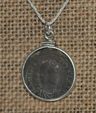 Theodosius the Great Roman Imperial Authentic Coin 925 Sterling Silver Necklace