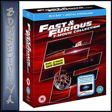 FAST & FURIOUS 1 - 7 PLUS BONUS DISC COLLECTION   **BRAND NEW BLU-RAY BOXSET***