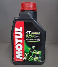 1 x Motul 5100 4-Takt SAE 15W50 motorradöl L'HUILE DE MOTEUR 1 Litre MA2 #