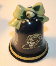 2006 Collectible Danbury Mint / Pitt Christmas Bell/ Santa Clapper/ Pitt Panther