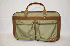 AMELIA EARHART Luggage /Carry On Travel Bag/ Overnight Suitcase, Olive & Brown