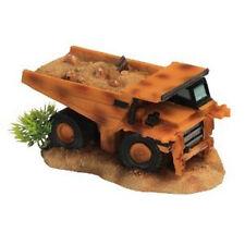 Orange / Yellow Dump Truck Vehicle Aquarium Fish Tank Ornament 1002
