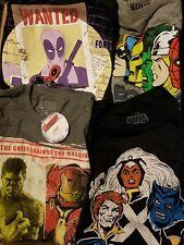 Bulk Wholesale Lot 50 Marvel T-Shirts Spiderman Thor Captain America Hulk X-Men