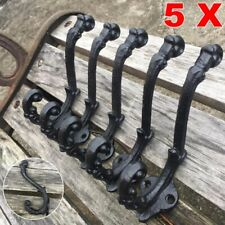 5X Heavy Vintage Style Cast Iron Wall Coat Hooks Hat Hook Rack Hall Tree 5 1/3