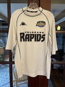 2000 2001 Colorado Rapids Soccer Jersey MLS USA NASL Large Kappa USL shirt Kit