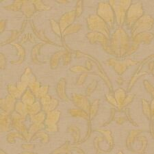 SIS40625 Coffee Sapphire Damask Wallpaper DOUBLE ROLL  BID FOR LOWEST PRICE