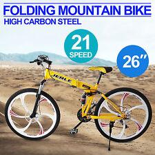 """26"""" 6 razze 21-velocità Folding Mountain Bike bagagli Attività Pieghevole Bici"""