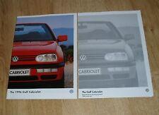 Volkswagen VW Golf Mk4 Cabriolet Brochure 1996 1.8 &  2.0 Avantgarde