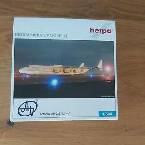 "1/500 HERPA 515436 ANTONOV AN-225 ""MRIYA"" REG UR-82060 ""BIGGEST AIRPANE OF ALL """
