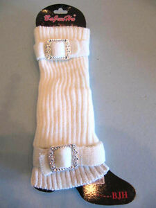Leg Warmers Crochet Knit Boot Socks Toppers Cuffs Winter Bling Pom Pom Warm USA