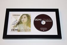 SINGER DEMI LOVATO SIGNED FRAMED UNBROKEN CD COVER BOOKLET W/COA ALBUM CONFIDENT