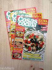 3 Revistas COSAS de COCINA █ Recetas Platos Faciles Verano Otoño Navidad Postres
